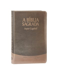 Bíblia sagrada marrom super legível capa