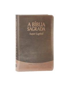 Capa da Bíblia Sagrada Marrom Super Legível frente