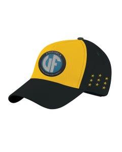Boné Uniforça amarelo e preto da Força Jovem Universal - FJU