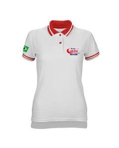 Camisa polo feminina grupo Calebe frente