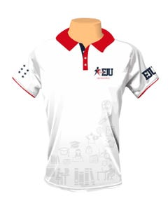 Camisa Polo Masculina Força Jovem Universal - FJU Universitários frente