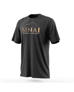 Camiseta preta Sinai o Monte dos Impossíveis frente