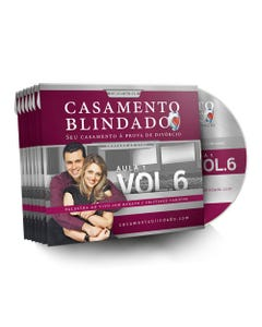 Kit DVD's com 7 Aulas da 6ª Edição do Curso Casamento Blindado