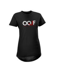 Camisa preta feminina O Que Jesus Faria - OQJF