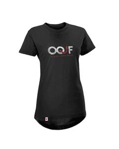Camiseta OQJF Feminina com Paetê Dupla Face - Preta